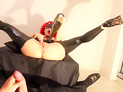 Sexy Teen Strips On New Years Eve In Latex Blowjob Enema Sparklers Piss