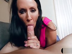 Relating MILF stepmom after a long time she blows my big cock