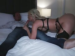 Smoking hot Polish bitch Natalia Starr takes a big cock in impenetrable depths throat and stretched anus