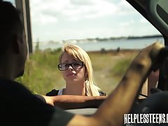Kinky pervert fuck brashness and pussy be required of sexy hitchhiker Lily Dixon and cums beyond their way face